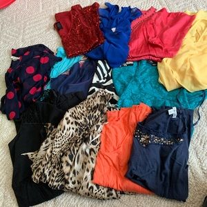 HUGE lot of 13 tops